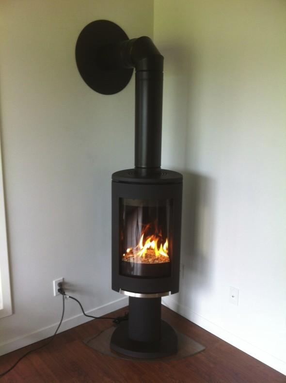Corner Gas Stove Install