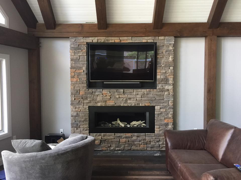 Wall Mounted Fire Place Installation
